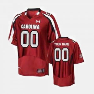 For Men's University of South Carolina Custom Jersey Alumni Red College Football #00 234242-770