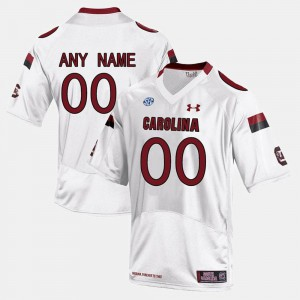Official White Men College Limited Football #00 USC Gamecock Custom Jersey 201850-328