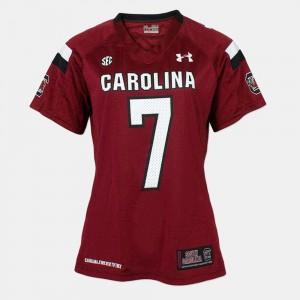 NCAA #7 Red Ladies College Football South Carolina Gamecocks Jadeveon Clowney Jersey 682584-552