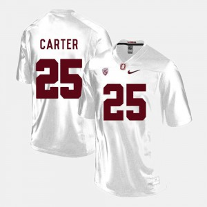 College Football #25 Stanford Cardinal Alex Carter Jersey For Men's White College 874459-907