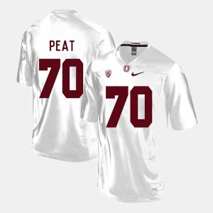 Stanford Andrus Peat Jersey For Men's College Football White Alumni #70 843684-253