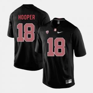 #18 Men College Football Black Cardinal Austin Hooper Jersey High School 790549-664
