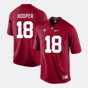 Alumni Mens Cardinal Stanford University Austin Hooper Jersey #18 College Football 857340-232