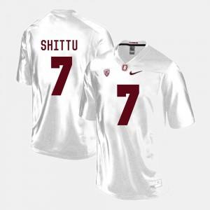 For Men's White College Football Player #7 Stanford University Aziz Shittu Jersey 636313-660