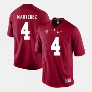 College #4 College Football Stanford University Blake Martinez Jersey Cardinal For Men's 216291-593