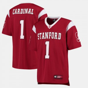 #1 College Football For Men's Alumni Cardinal Stanford Jersey 225507-162