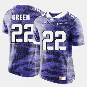 High School Purple #22 TCU Horned Frogs Aaron Green Jersey Men College Football 749656-323