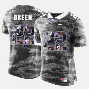 High-School Pride Pictorial Limited Men Official #22 Grey TCU Aaron Green Jersey 580334-155