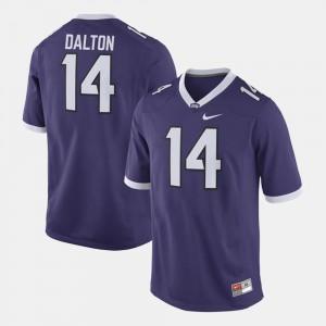Purple #14 University TCU Horned Frogs Andy Dalton Jersey For Men Alumni Football Game 312819-533