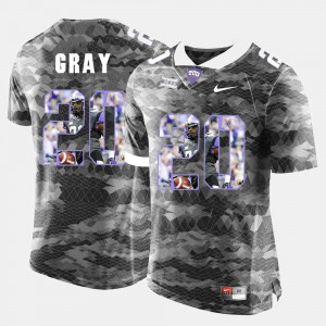 TCU University Deante Gray Jersey Stitch Grey #20 For Men High-School Pride Pictorial Limited 546706-637
