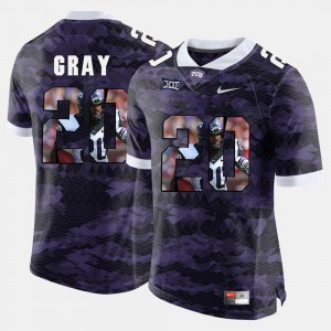 #20 TCU Deante Gray Jersey High-School Pride Pictorial Limited Purple For Men High School 175881-329