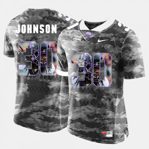 Grey Stitch High-School Pride Pictorial Limited #30 Mens Texas Christian University Denzel Johnson Jersey 306241-130