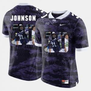 TCU University Denzel Johnson Jersey Purple Men High-School Pride Pictorial Limited #30 Embroidery 908490-234