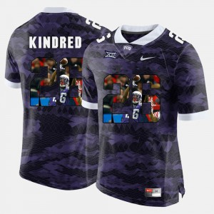 #26 Purple TCU Derrick Kindred Jersey High-School Pride Pictorial Limited For Men Player 900088-520