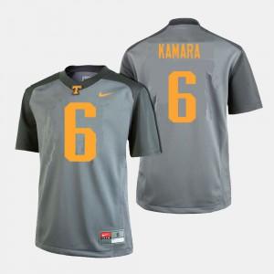 Gray Player College Football For Men Tennessee Volunteers Alvin Kamara Jersey #6 225114-982