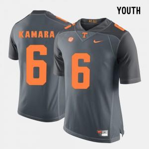 College Football #6 College UT VOLS Alvin Kamara Jersey Kids Grey 611538-497