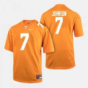 University For Men's Orange College Football UT Brandon Johnson Jersey #7 494570-270