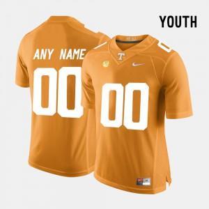 Youth(Kids) College Limited Football #00 Vols Custom Jersey High School Orange 426134-954