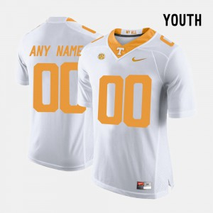 College Limited Football #00 Official UT VOL Customized Jerseys Kids White 882530-617