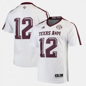 2017 Special Games #12 White University Men's Aggie Jersey 978767-381