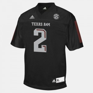 College Football Embroidery Men Black Aggies Johnny Manziel Jersey #2 744178-803