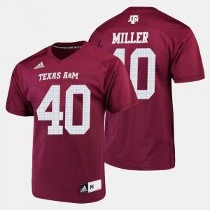 College Football Men Player #40 Maroon A&M Von Miller Jersey 730513-852