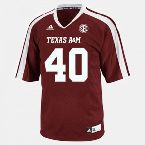 Texas A&M University Von Miller Jersey #40 Red Youth(Kids) College Football Official 677569-331