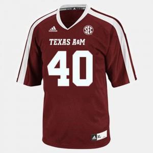 Texas A&M Von Miller Jersey Men's Alumni Red College Football #40 299690-330