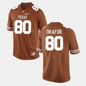 #80 College Football UT Alex Okafor Jersey For Men's Burnt Orange NCAA 564046-420