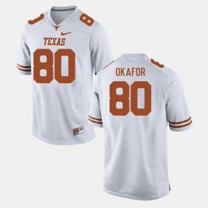 For Men #80 University White UT Alex Okafor Jersey College Football 319106-345