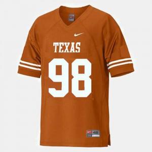 Stitch College Football #98 University of Texas Brian Orakpo Jersey Youth Orange 758622-314
