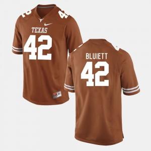 #42 For Men College Football NCAA UT Caleb Bluiett Jersey Burnt Orange 134415-720