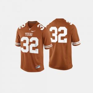 Burnt Orange Men's #32 College Football Texas Longhorns Jersey Player 394221-566