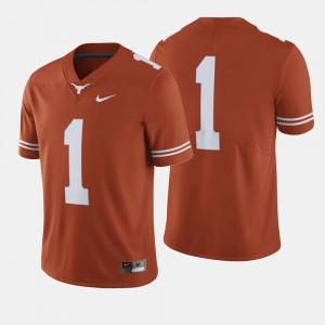 College Football #1 Stitched Orange Men's University of Texas Jersey 282942-233