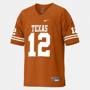 Orange UT Colt McCoy Jersey #12 Player For Kids College Football 930983-651