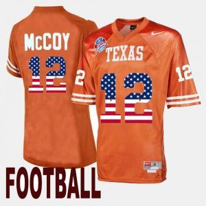Orange University of Texas Colt McCoy Jersey Throwback #12 Men Embroidery 765980-384