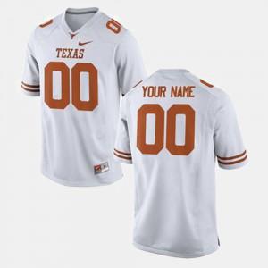 Men's #00 College Football University UT Custom Jersey White 984259-505