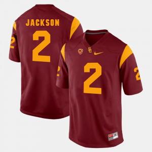 Red Stitch Pac-12 Game USC Trojans Adoree' Jackson Jersey #2 Men's 464353-305