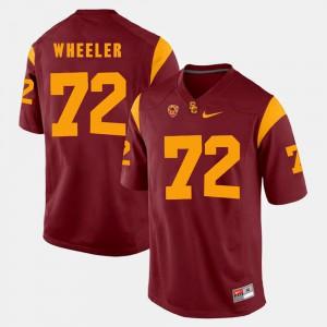 Red Men's Trojans Chad Wheeler Jersey #72 Pac-12 Game University 357202-541