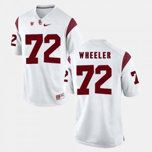 Trojans Chad Wheeler Jersey Pac-12 Game #72 White Embroidery For Men's 375325-994