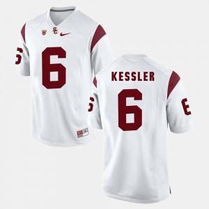 White USC Trojan Cody Kessler Jersey Stitch For Men Pac-12 Game #6 147344-483