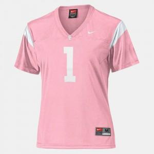 College Football Stitch Pink Women USC Jersey #1 166274-659