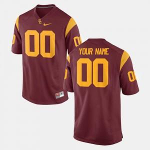 #00 College Football Player USC Trojan Custom Jerseys Cardinal Men 658147-943