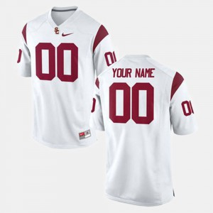 #00 Embroidery USC Customized Jerseys Mens College Football White 272428-929