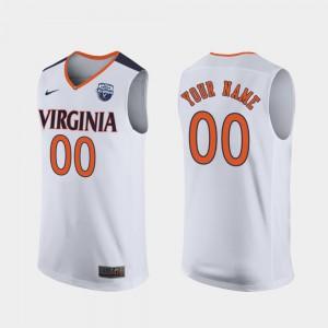 UVA Custom Jersey White For Men's 2019 Men's Basketball Champions #00 Alumni 507620-732