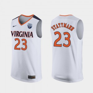 2019 Men's Basketball Champions #23 Alumni White Mens University of Virginia Kody Stattmann Jersey 940172-822