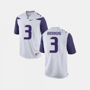White University College Football Men University of Washington Jake Browning Jersey #3 262883-380
