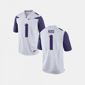 Washington John Ross III Jersey College Football White #1 For Men Official 960645-777