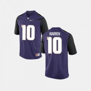 UW Jusstis Warren Jersey For Men's #10 College Football University Purple 263541-128