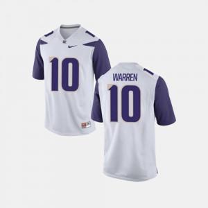 College Men College Football White UW Huskies Jusstis Warren Jersey #10 461203-857